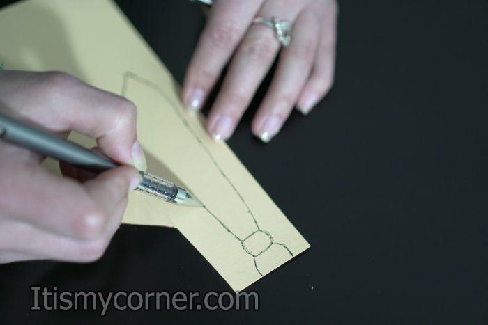 DIY suit card